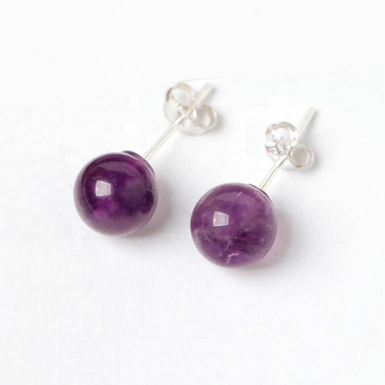 Amethyst earrings in silver 925
