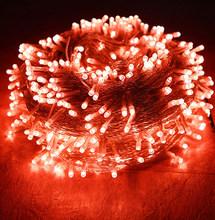 СВЕТОДИОДНАЯ Гирлянда для праздников, Рождественская гирлянда, 20 м, 50 м, водонепроницаемая, для свадьбы, Нового года, сада, дома, улицы, свето...(Китай)