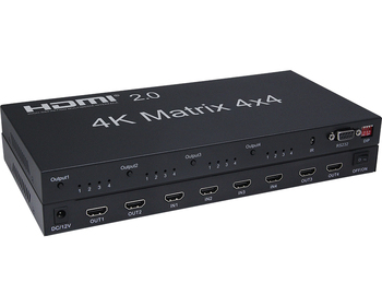 4k*2k 2.0 v 4x4 Hdmi Matrix Support 4k Bi-directional Ir Control Hdmi Video Wall Controller