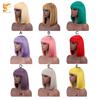 colorful bob wig with bangs