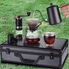 Coffee Coffee Gift Set V60 Designs Gift Travel Portable Arabic Ethiopian Aluminum Box Drip Maker Grinder Dripper Filter Cup Coffee Set