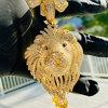 "gold  22""chain & pendant"