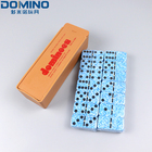 Domino Plastic Box Domino Low Cost High Quality 39*20*5.5mm Marble Domino Set With Plastic Box
