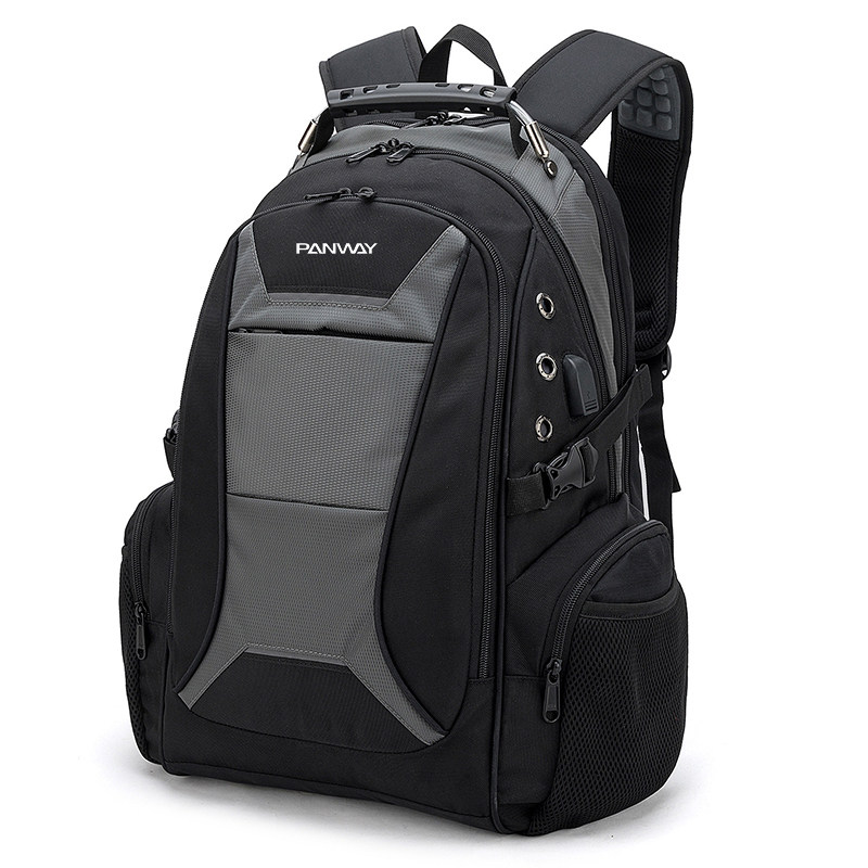 Large Capacity anti-theft Water Resistant Durable Smart Travel laptop backpack bag with USB Charging