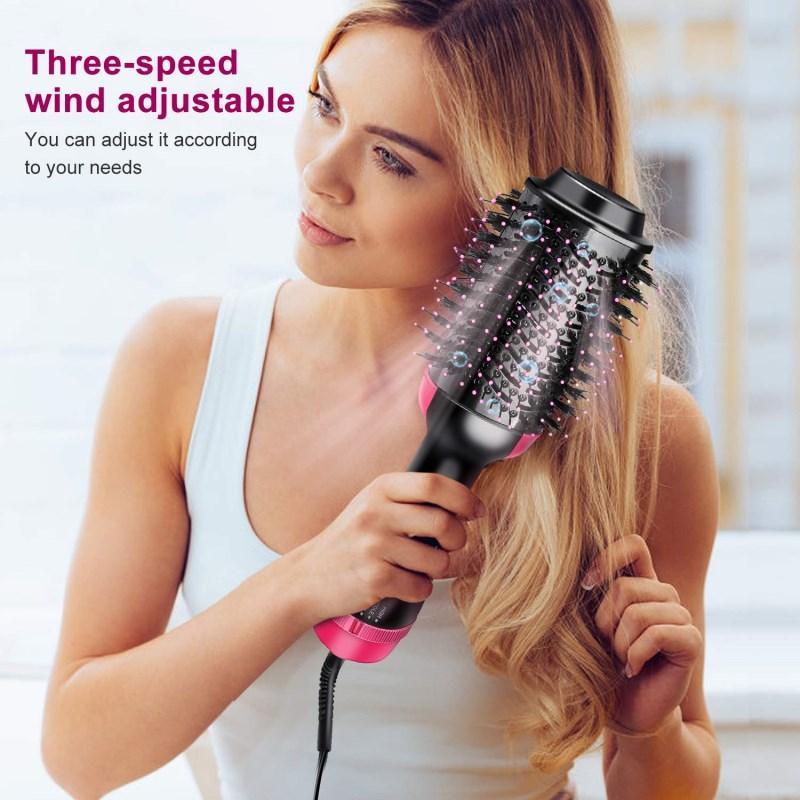 Фен для волос, одношаговый выпрямитель для волос, Плойка для волос, щетка 3 в 1, фен, стайлер, Женская щетка с горячим воздухом