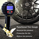 Pressure Wrench Air Digital Tire Inflator Pressure Gauge With Adjustable Wrench Air Pump