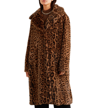 Faux fur jacket coat woman Ladies Hot sell high quality waterproof leopard print women winter coat
