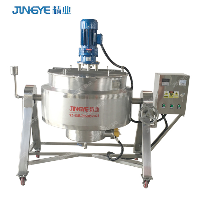 Stainless Steel Automatic Tilting Food Jam Jacket Kettle Cooking  Mixer Machine