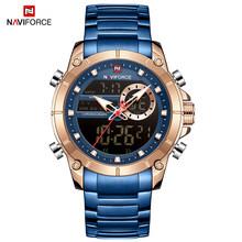 Мужские часы NAVIFORCE, армейские спортивные часы с хронографом, модные водонепроницаемые кварцевые наручные часы, мужские часы(China)