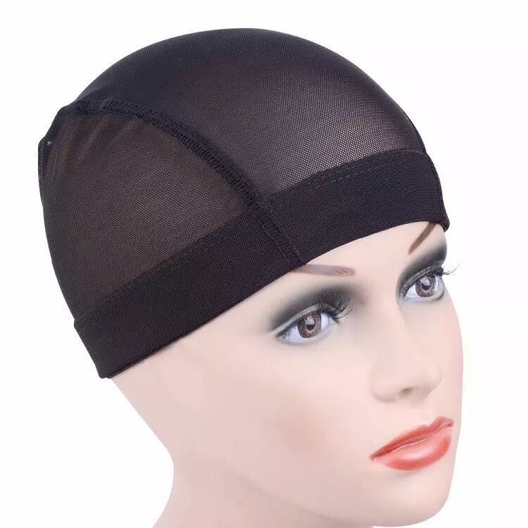 Hot selling Xiuyuan product breathable dome net wig cap adjustable black stretch elastic