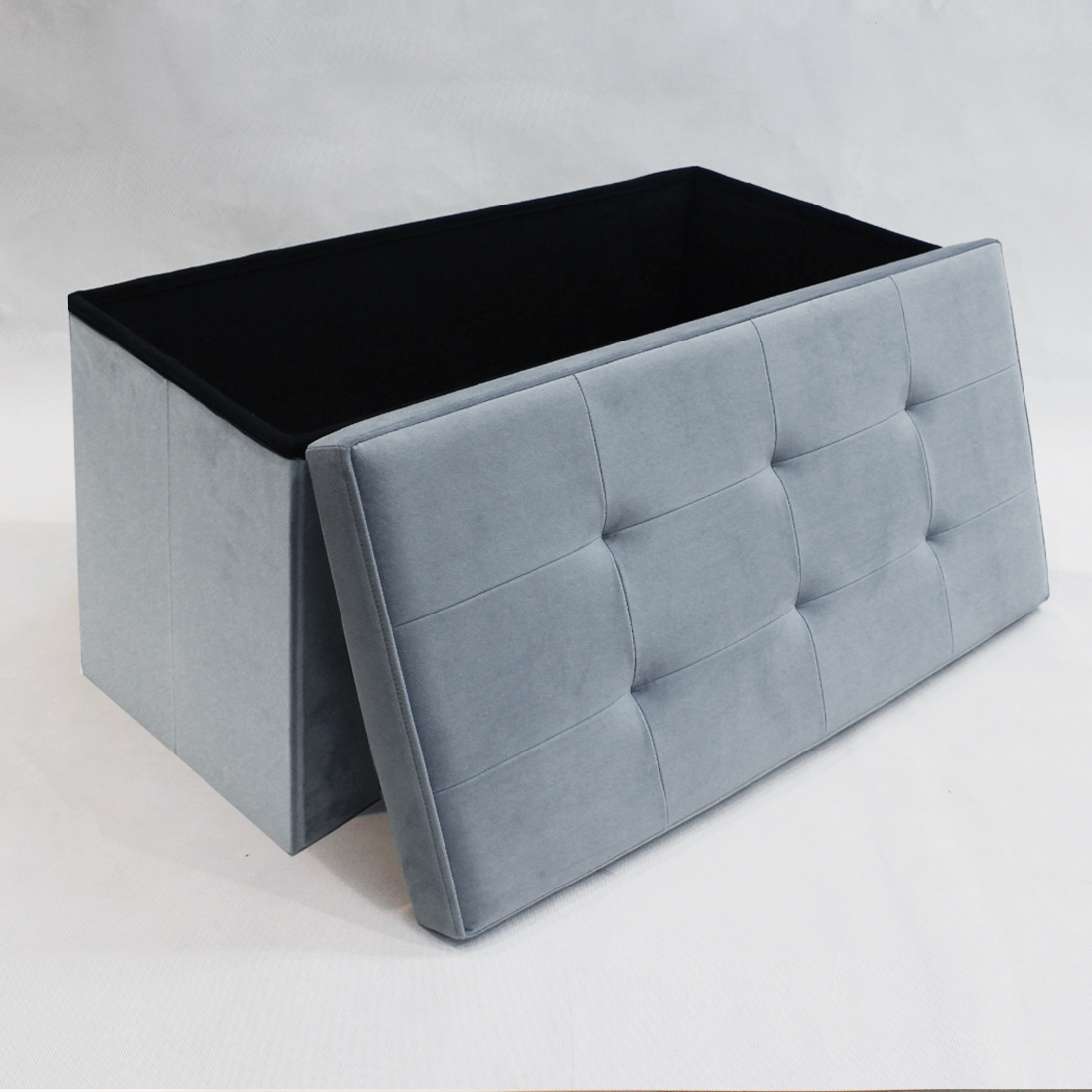 Fashion living leather stool fabric velvet storage foldable soft chair bed ottoman design table sofa bench furniture
