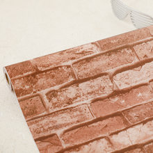 45 см * 10 м деревенская винтажная 3D Бумага из искусственного кирпича рулон виниловая ПВХ Ретро промышленная чердачная настенная бумага красн...(Китай)