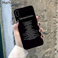 MaiYaCa Дневники вампира Стефан Деймон Сальватор черный чехол для телефона для Apple iphone 11 pro 8 7 66S Plus X XS MAX 55S SE XR(Китай)