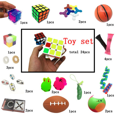 2021 Best Selling Sensory Fidget Toys Set, 25 Pcs Stress Relief And Anti-Anxiety Tools Bundle Squeeze Balls For Kids and Adults