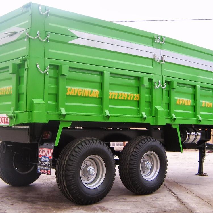 8 tonluk traktor damperli romork tandem tipi cift aks arka veya yan devrilme buy traktor damperli romork cift aks romork 8 sesleri ciftlik romorku