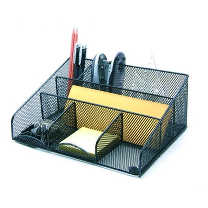 metal mesh office desktop wire organizer