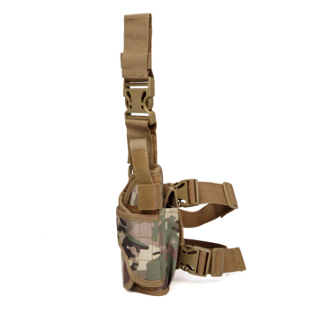 Adjustable durable military army molle tactical universal pistol thigh leg drop handgun holster