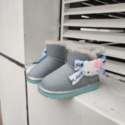 Зимняя хлопковая Нескользящая удобная детская обувь для малышей; Ботинки для девочек