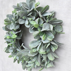 Wedding Green Spring Door Wreaths Grapevine Branches Eucalyptus Wreath Artificial Garland Door Wreath