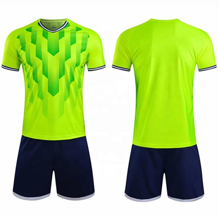 Custom Print Logo Green Soccer Jersey Set Buy Football Jerseys ...