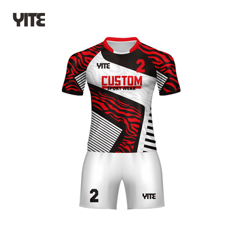 National sublimation mens rugby uniform cheap rugby jersey custom rugby shirt