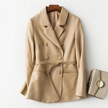 AYUNSUE 2020 куртка из натуральной кожи женский двубортный блейзер из овчины пальто весна осень Корейская Chaqueta Mujer KJ3529(Китай)