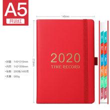 Ежедневник для бумажных ноутбуков 2020 A5, органайзер из искусственной кожи, ежемесячный планер на 365 лет, блокнот, канцелярская книжка(Китай)