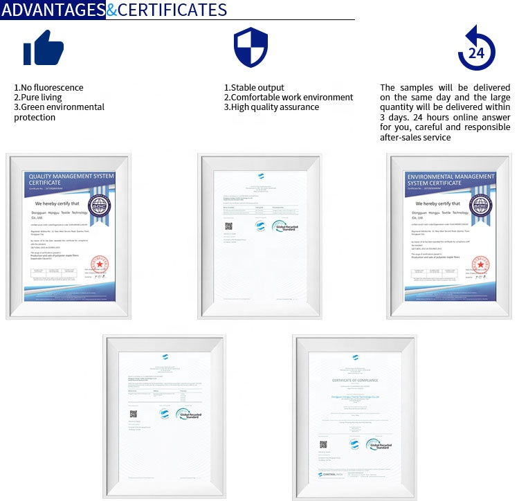 Sales High-Quality No Fluorescence Hollow Conjugate Recycled PSF Silicone Fiber Filling Material With GRS Certificate