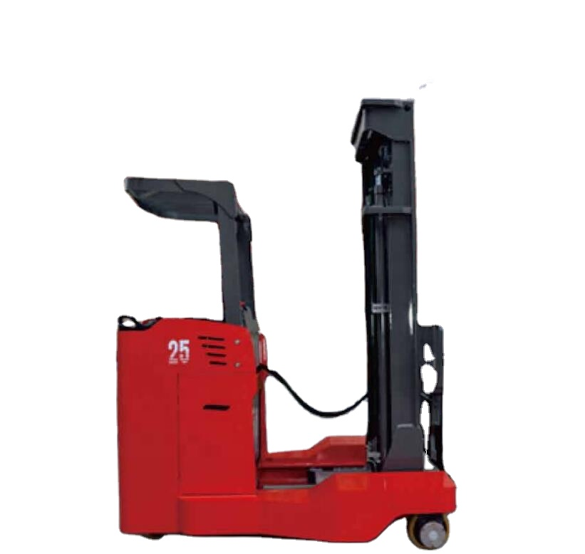 Reddot 4 way four directional electric reach stacker forklift truck