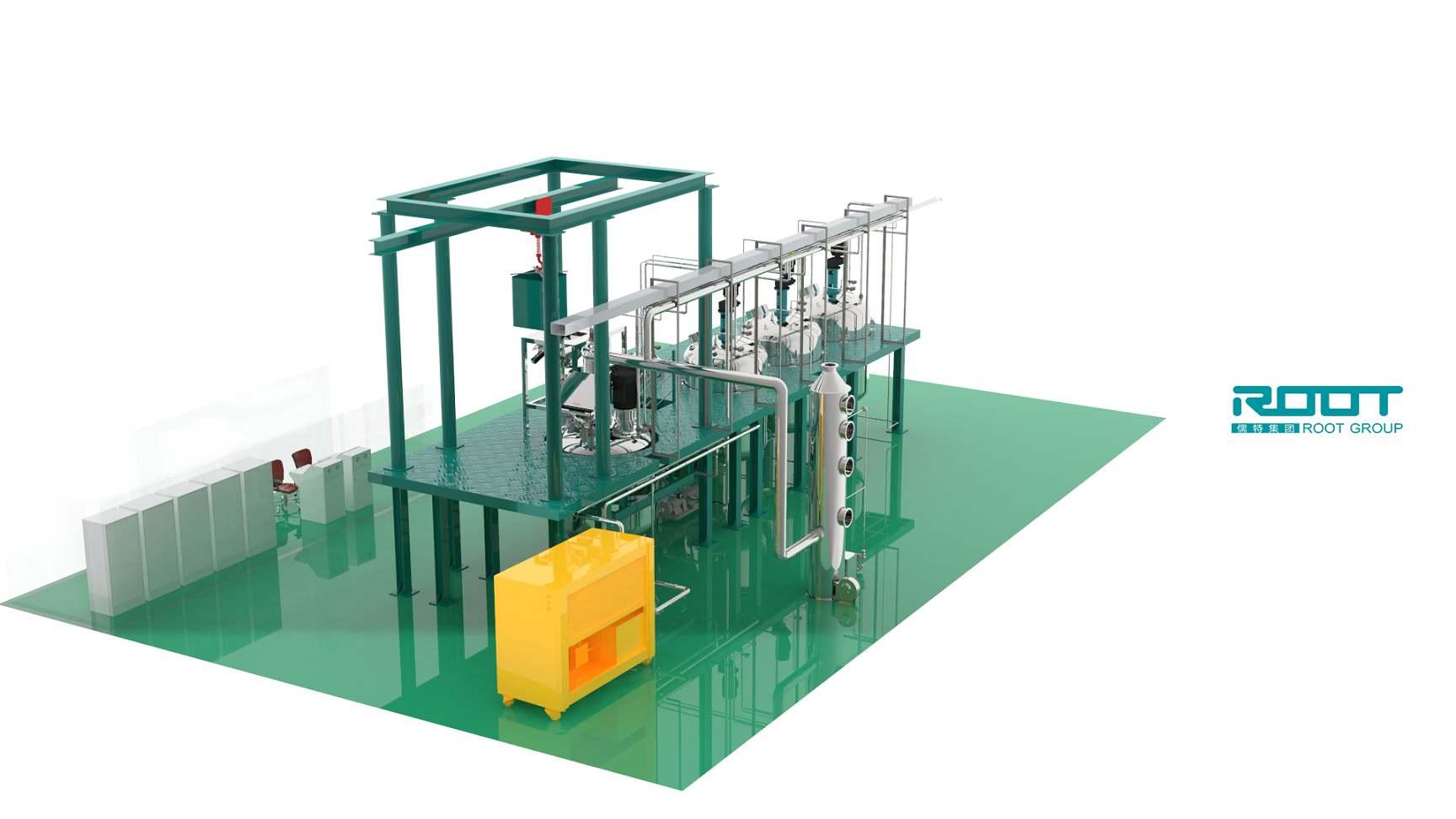 Root high efficiency complete pesticide EW production line