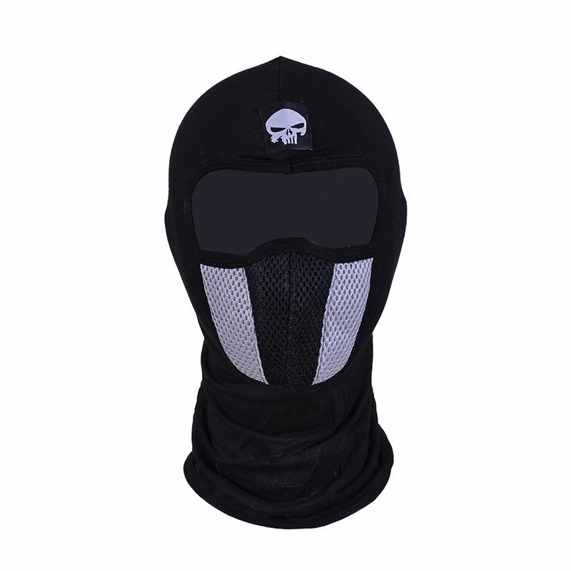 Q1078 Cycling Cotton Spandex Net Balaclava Summer Sun Ultra UV Protection Full Face Scarf Unisex