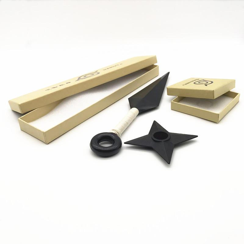 Горячая Распродажа 26 см Abs пластик Kunai реквизит большой размер аниме Kunai Shuriken косплей реквизит Ювелирные наборы с упаковкой