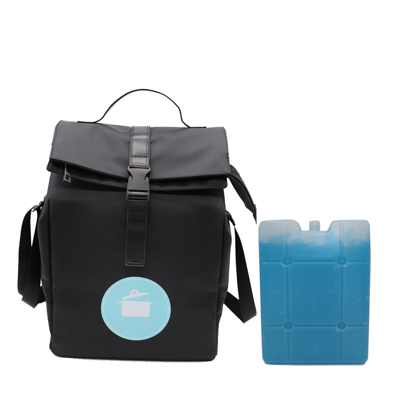 Picnic cooler bag high-end fashion business adult Portable insulated Folding lunch picnic cooler tote bag with Cooler Pack box