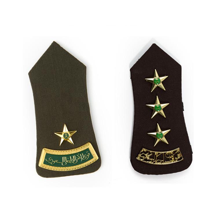 Эполеты на заказ в военном классе саудовской аравии, жесткие эполеты, звездная корона, эполеты в саудовской аравии