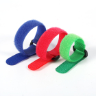 Nylon Buckle Self Adhesive Stretch Micro Nylon Fastener Elastic Hook And Loop With Buckle Cable Ties Strap Band Fabric