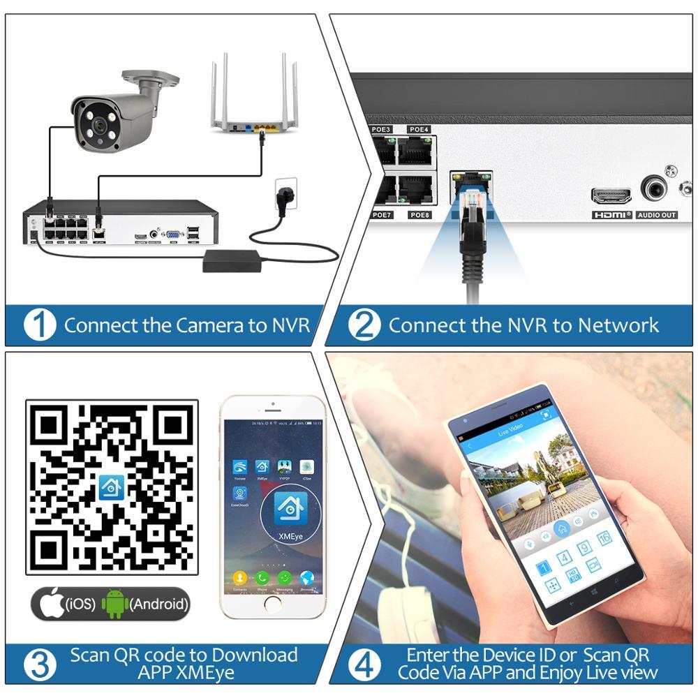 5-мегапиксельная наружная водонепроницаемая IP-камера POE с двухсторонним аудио AI-камерой с датчиком движения P2P Onvif CCTV
