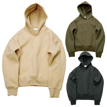 High quality 2020 new arrival custom wholesale blank 400gsm heavyweight 100% cotton fleece pullover plain men hoodie set