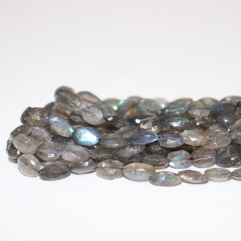 Labradorite Faceted Oval Shape Beads