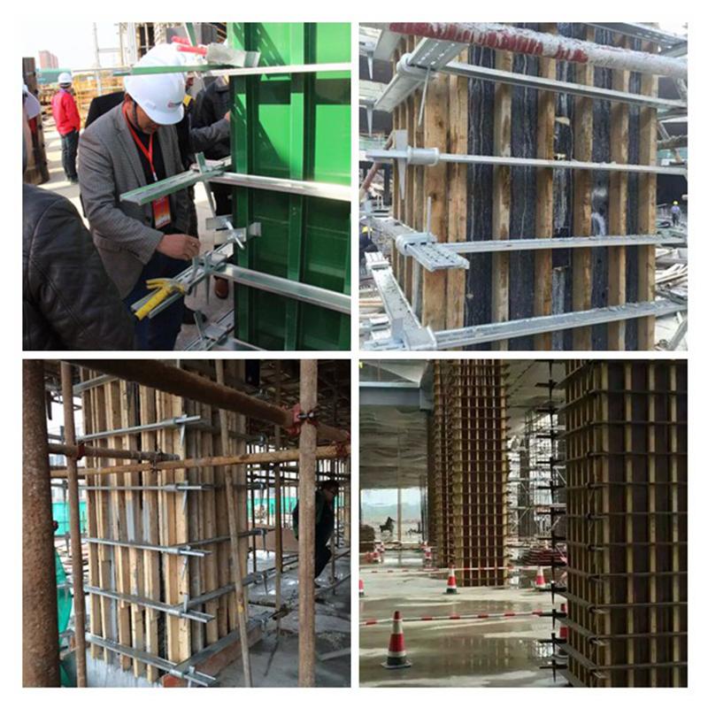 Использованные 50 раз Индивидуальный размер бетонная опалубка с регулируемым зажимом
