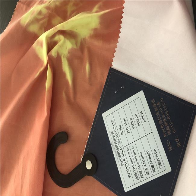 Оптовая продажа, Пляжная короткая футболка из полиэстера и микрофибры, меняющая цвет ткань