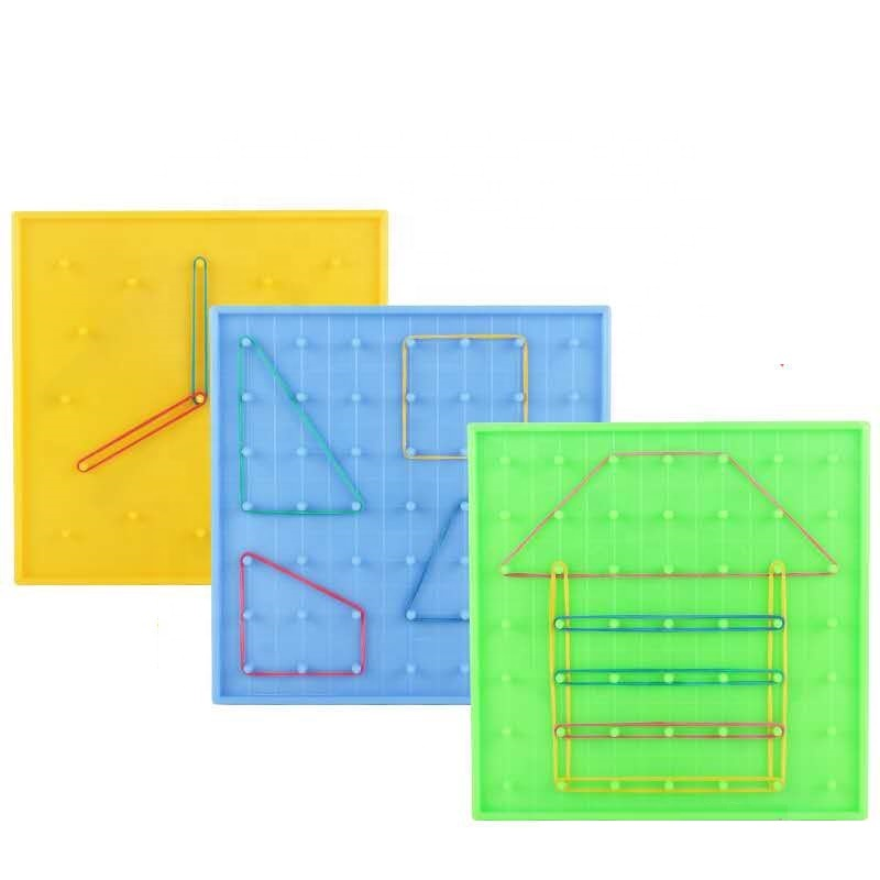 Math puzzle toy plastic nail board double-sided Geo board
