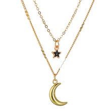 Abdoabdo многослойное ожерелье Женская модная цепочка золотое ожерелье двойные женские ожерелья и кулоны персонализированное именное ожерель...(Китай)