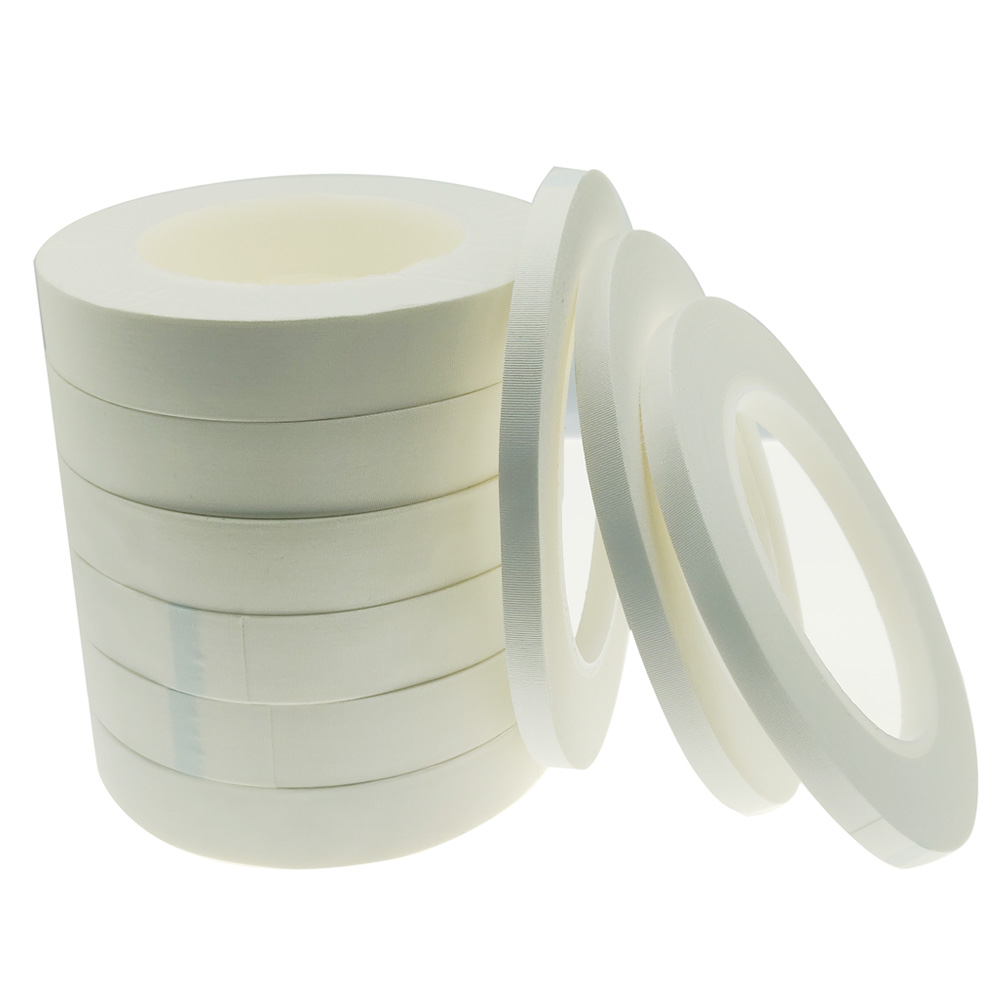 White Woven Fiberglass Tape with Silicone Adhesive for Transformers, Solenoids, Thermal Spray Masking