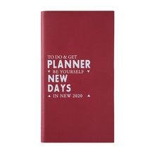 Мини-органайзер А6, еженедельный ежемесячный дневник и дневник, 48 к, милый дорожный Органайзер «назад в школу», 2020(Китай)