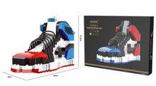 Горячая молния кроссовки Баскетбол Спортивная обувь Строительные блоки мини кирпичи Assemable DIY Коллекция Игрушки для мальчиков друзья дети(Китай)