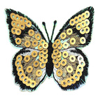 Patch Embroidery Patch Custom Fashion Top Design Wings Shape Sew On Sequin Appliques Embroidery Patch