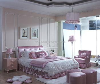 New Design Hot Sell Girls Pink Bedroom Sets Kids Bedroom Furniture Sets