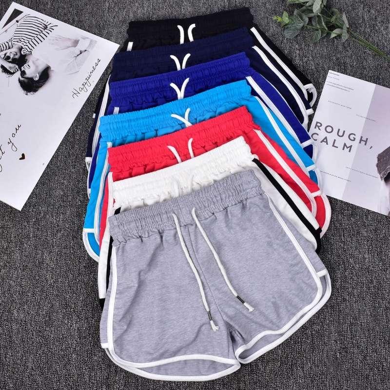 Athletic Ladies Wear Yoga Fitness Custom Embroidery Print Logo Cotton Women Gym Shorts
