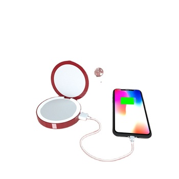 High Quality Large Battery Capacity Fast Charging Pocket Mirror LED Beauty Fill Light Makeup Mirrors