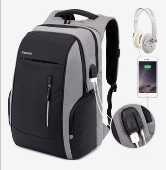 Durable Male Tempting Anti-theft backpack USB smart Business backpack with code lock